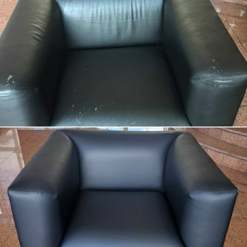 Reupholstered commercial furniture