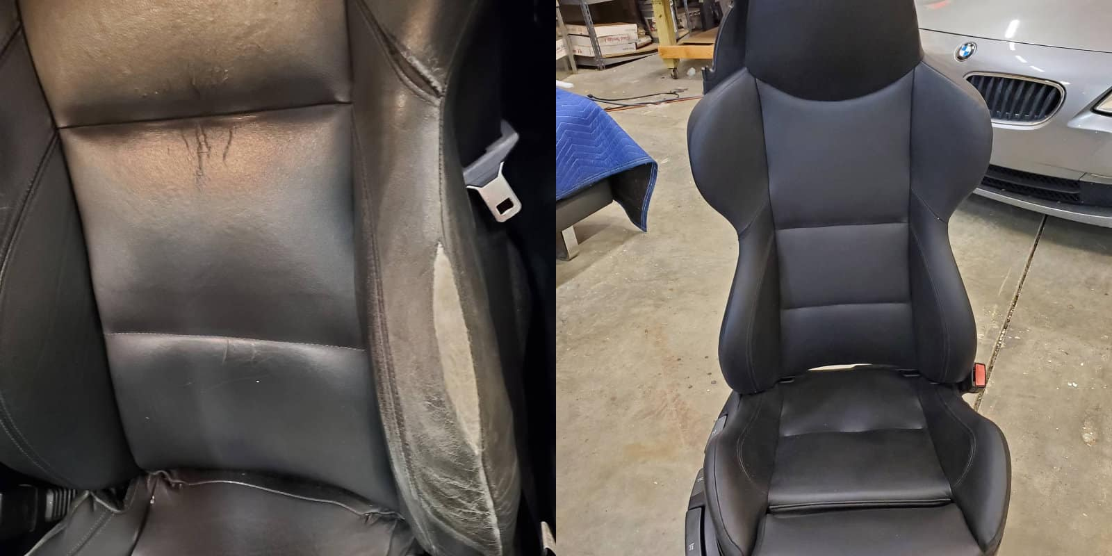 Reupholstered BMW Seat