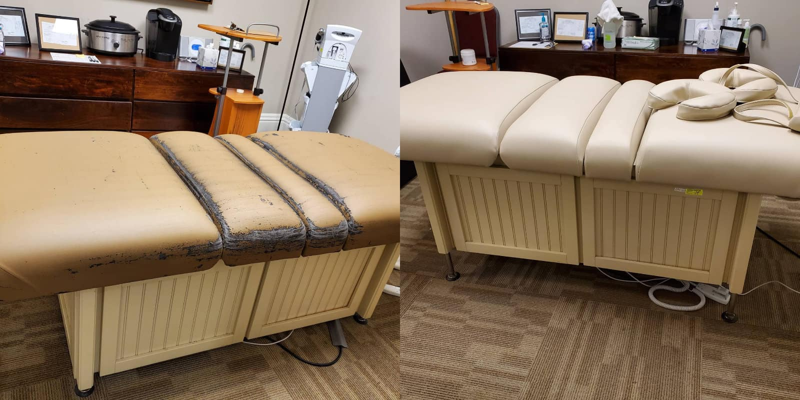 Reupholstered Massage Table