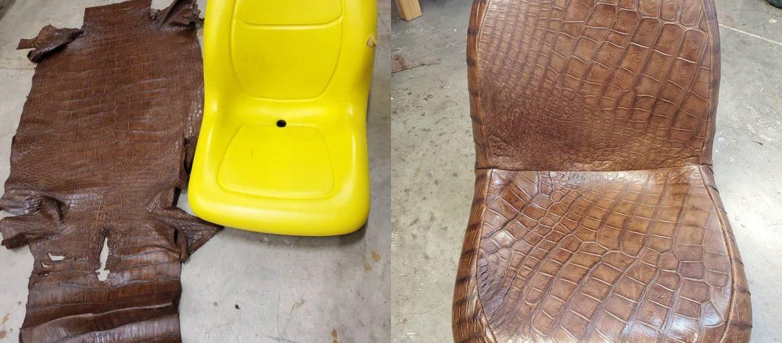 Crocodile tractor seat